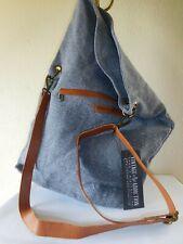 New Vintage Addiction Charcoal Foldover Natural Jute Crossbody Bag