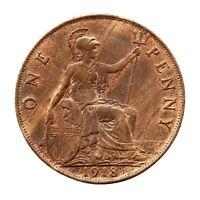 KM# 810 - One Penny - Freeman 182 (2+B) - George V - Great Britain 1918 (EF)