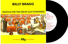"BILLY BRAGG - WAITING FOR THE GREAT LEAP FORWARD - EP 7"" 45 RECORD PIC SLV 1988"