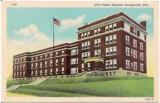 Ohio Valley Hospital in Steubenville OH Postcard