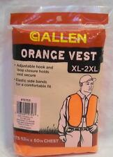 "Allen Blaze Orange Safety Hunting Shooting Vest #15753 XL-2XL 52""-60"" Chest"