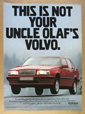 1993 Volvo 850 GLT 'Not your Uncle Olaf's Volvo' vintage print Ad