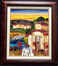 "Maya Eventov ""Alfresco I"" Oil Flower Canvas Custom Frame H.Signed ME091807-06"