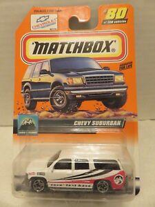 2000 Matchbox Chevy Suburban White #80 Die-Cast Snow Explorer Van Mattel