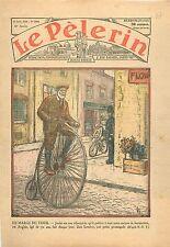 Bike Vélo Vélocipède Locomotion Streets Londres London Policeman England  1934