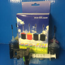 HP Envy 5640 7640 e-All-in-One HP 62 HP62 BLK&CL INK CARTRIDGE REFILL KIT + TOOL