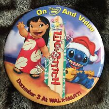 Disney Button Lilo & Stitch on DVD and Video December 3 WalMart Button
