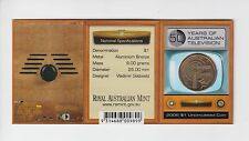 2006 50 years of Australian Television TV $1 S Mint Mark carded