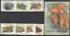 Stamps 1994 Madagascar poison fish set of 7 plus mini sheet MUH, nice thematics