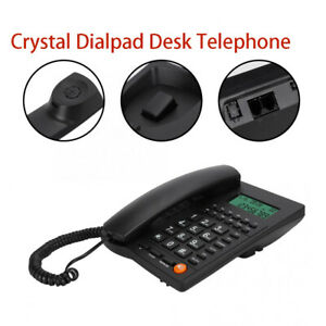 Trade Call Landline Crystal Dialpad Desk Telephone Caller ID Display Home Using