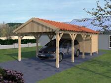 Carport Satteldach MONTE CARLO X 400x800cm + Geräteraum KVH