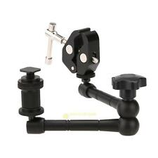 "11"" Articulating Magic Arm + Super Clamp Crab Plier Clip for Camera DSLR Monitor"
