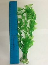 "LARGE 10"" + 6x Aquarium Fish Tank Artificial Plastic Plants Green Decor Ornament"