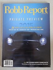 The Robb Report - January 2015 - Debuts of The Macallan, Kiton, Mercedes-AMG +++