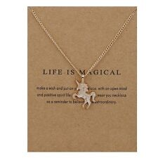 Womens Necklace Unicorn Gold Custom Jewelry Bohemian Inspired US New Chain Thin