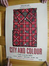City And Colour Poster Silk Screen Signed AP Alexisonfire Dallas Green &