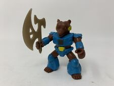 Battle Beasts. Hasbro Series 1, #11 Grizzly Bear, Weapon & Working Rub (Wood)