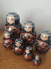 Wooden Russian Nesting Babushka Matryoshka 7 Dolls Set Hand Painted New
