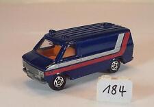 Tomy Tomica 1/78 Nº f22 Chevrolet CHEVY Van Bleu Foncé #184