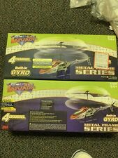 RC HELICOPTERS LOT OF 2, 4 CHANNEL, BUILT IN GYRO, METAL FRAME SERIES