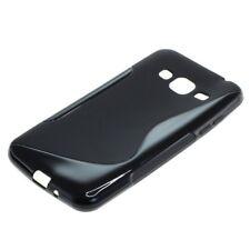 TPU Case Hülle Wave Design für Samsung Galaxy J3 (2016) SM-J320 schwarz