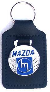 Mazda Keyring Key Ring - M style badge mounted on a leather fob