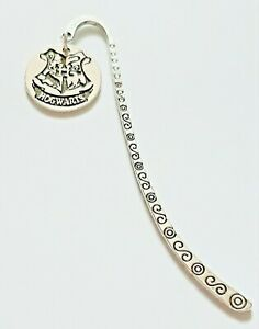 Vintage HARRY POTTER HOGWARTS Crest Charm Tibetan Handmade Bookmark Gift UK