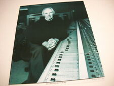 George Martin sitting comfortably hands clasped at console 1998 Promo Poster Ad