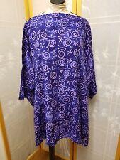 NWT Festivals Rayon Batik Purple Top One Size Zen Top GOOD