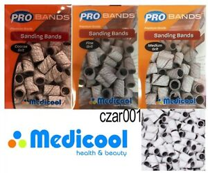Medicool ZEBRA Acrylic Sanding Bands-  ALL GRIT AVAILABLE (F, M, C)