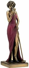 "FEMALE SINGER Bronze Statuette JAZZ BAND Collection, 12.25"" Tall, Unicorn Studio"