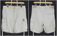 Mens Fjallraven Vintage Cargo Shorts Beige Pocket Hiking Size 48 / W32