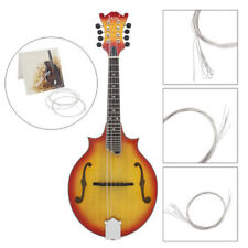 1 Jeu Plaqué Argent pour Cordes de Mandoline Instrument Accessoire E/A / D/G