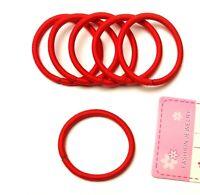 6 elastische Haargummis Haarbinder Zopfgummi Haarband rot Außendurchmesser 5 cm