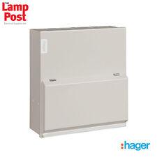 Hager VML406H - 6 Way 63A 30mA RCCB Incomer Metal Consumer Unit Amendment 3