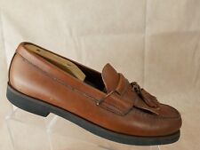 Weejuns Bass Mens Loafer Size 11.5 W Wide Brown Leather Kilt Tassel Dress Shoe