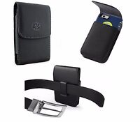 Vertical leather Belt Clip Holster For iPhone 6 plus 7 Plus fit Otterbox Case On