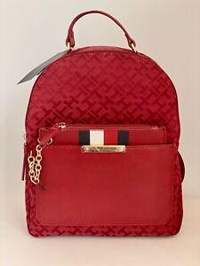 Tommy Hilfiger Logo Designer Backpack Shoulder Bag with Wristlet New Gift