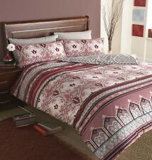 Saffron Pick Brick Oriental Design Single Duvet Cover Bed Set