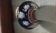 Pandora Murano Glass Blue Snowflake,flowers charm/bead Silver s925 Ale New