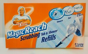 *NEW* Mr. Clean Magic Reach Scrubbing Tub And Shower Pad Refills Box of 8 Pads