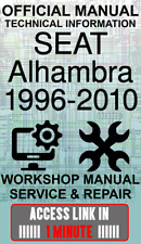 Seat alhambra workshop manual | ebay.