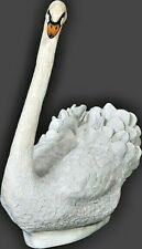 More details for white swan sitting statue display figure bird fowl country majestic cygnus