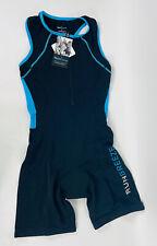 RunBreeze Women's Triathalon Suit Black Quick Dry Cycle Bike Run Swim Med NWT!