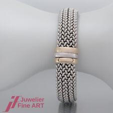 Armband -  Flecht-Muster in 14K/585 Gelbgold & Weißgold - ca. 20 cm Länge