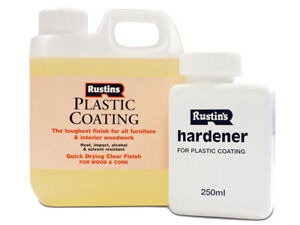 Rustins Plastic Furniture Coating Gloss 1 Litre RUSFPCGG1L