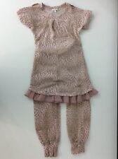 Miss Grant Jumper & Leggings 41% Lana Wool Age 8-9 Years Size 34 Leopard Print