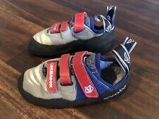 New Evolv Luchador Men's Rock Climbing Shoes Size 4.5 Black Blue Red Gray