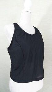 Pearl iZumi Womens Cycling Tank Top Size 14 Technical Wear Black Mesh Shelf Bra