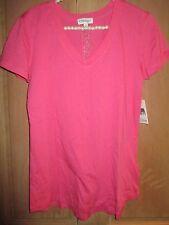 NEW PJ SALVAGE PJ's SLEEPWEAR Size S Cotton Pajama S/S TOP SHIRT Pink
